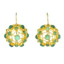 Victorian Filigree Earrings With Green Onyx – E91104