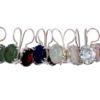 Klassieke oorbel jade, granaat, maansteen, zirkoon. rozenkwarts E9509