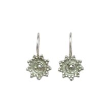 Small Silver Earring Traditional Etruscan – E479