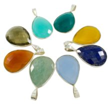 Silver Gemstone Pendants P1009