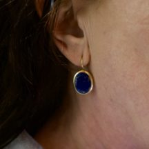 Oval Earrings Lapis Lazuli E91120