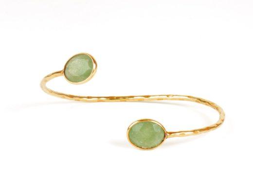 armband jade goud op zilver
