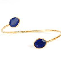 Bracelet With Facet Cut Lapis Lazuli – B9506
