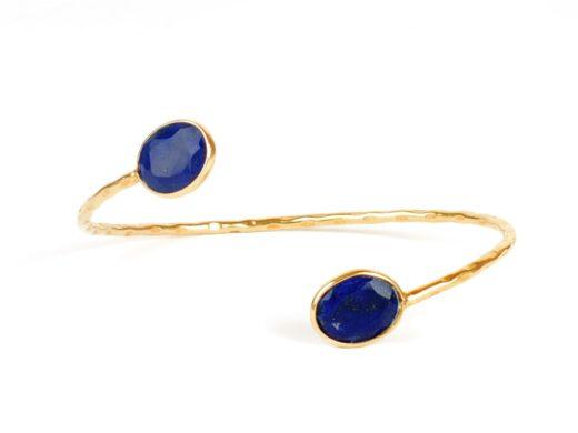 Lapis Lazuli (blauw) buigzame armband B9506-V