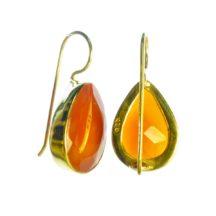 E7703-V Oranje Carneool Peer Druppels