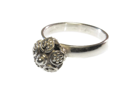 R1145-Z Etruskische kleine bal ring