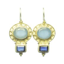 Classic Chic Earring Blue Chalcedony And Iolite – E9506