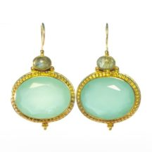 Etruscan Earring Chalcedony And Labradorite – E9516