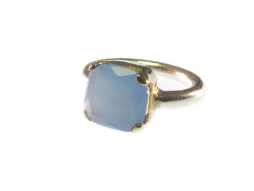 R7705-V vierkante blauwe chalcedoon