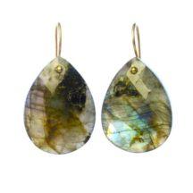 Earrings Labradorite Teardrops – E1109