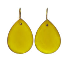 Earring Yellow Onyx Teardrops – E1109