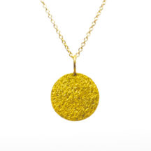 Pendant 18k Gold Plated Round – P1004
