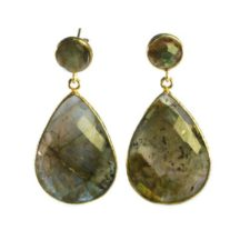 Earring Studs Labradorite Big Drops