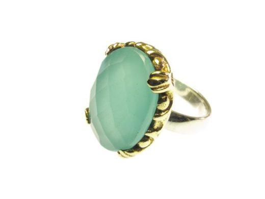 1141-V ring met aqua chalcedoon