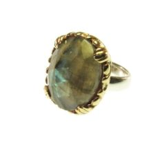 Cocktail Ring With Facet Cut Labradorite – R1140