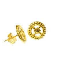 Stud Earrings Classic Hippie Wheels Chic – E1460