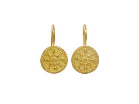 Etruscan coin earring E8320