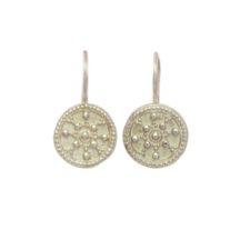 Silver Coin Small Earring – E8320