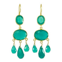 Gabrielle D'Estree Earrings Green Onyx – E1047
