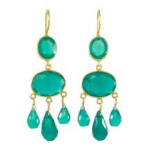 Gabrielle D'Estree Earrings Green Onyx – E1047