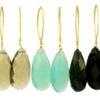 Marquise hook earrings E1169