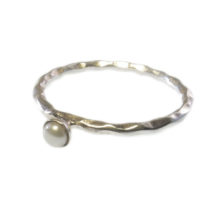 Small Stackring Silver And White Pearl – R1158