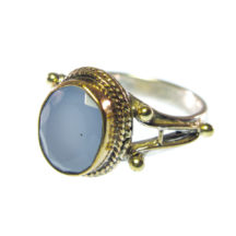 Blue Chalcedony Hippie Chic Ring – R7703