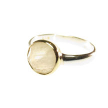 Ring With Round Facet Moonstone – R1271