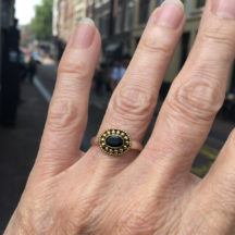 Ring With Dotted Surround R1015