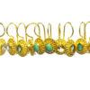 E025-V zachte edelsteen kleuren oorbellen met brede setting