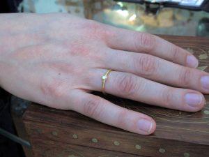 R101-G 18 Karaat Goud En Polki Diamant Ring
