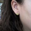 E103-G 18 karaat goud en diamant oorknopjes