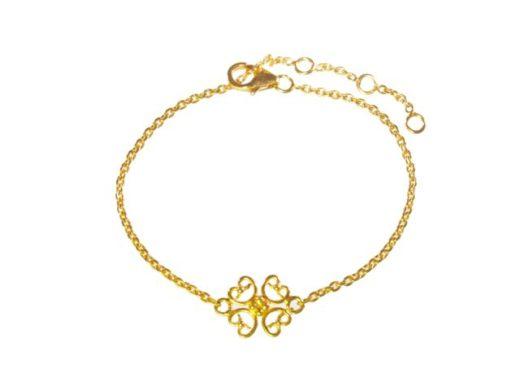 B1449-V fijne fashion armband met een ornamentje vast in het midden