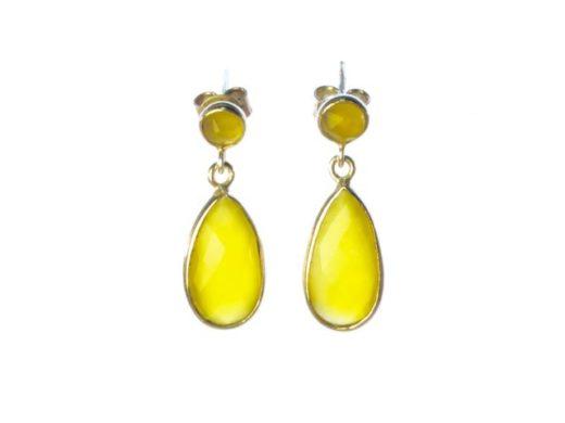 E1324-Z gele onyx oorstekers