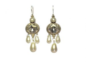 Antique Replica Earring Zircon And Pearl – E1438