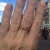 18k gold ring R104-G
