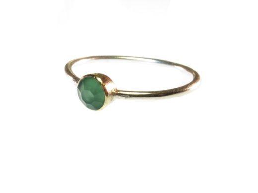 Skinny ring groene onyx R1345-V