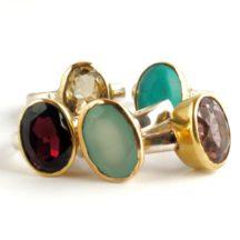 Ovale Ring Met Edelsteen R7704-V