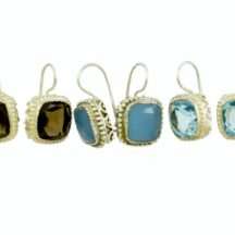Square Etruscan Earrings E8307-Z