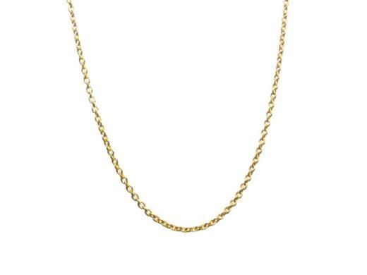 Fijne 18k goud verguld 42cm kettinkje Nchain-fine-Z