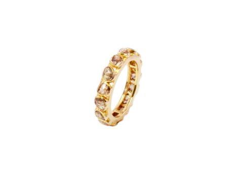 Handgemaakt 18k gouden met diamant ring R105