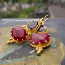 Etruscan Inspiration Garnet And Ruby E1317-V