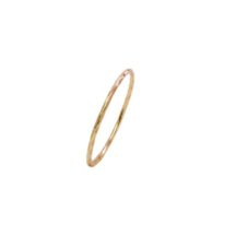 14k Gold Fine Thin Skinny Stack Ring – R15100