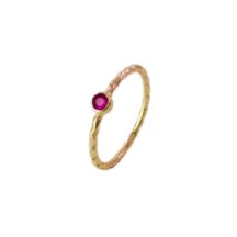 Ruby 14k Gold Fine Thin Skinny Ring – R1555