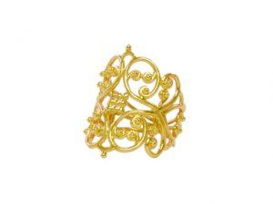 Filigrain Gold Ring – R1628