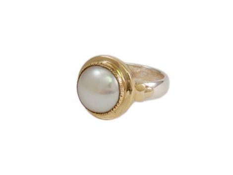 Dikke parel ring R1543