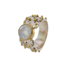 Chic Dotted Ring With Moonstone – R7701