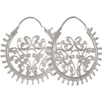 Filigree Silver Hoop Earrings – E7711