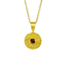 Etruscan Pendant With Garnet – P1748