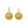 Etruscan coin earring with stone E8326